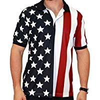 Performance Golf American Flag Shirt from