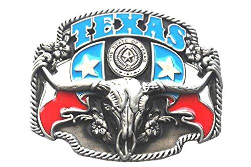 Bai You Mei Hombres Estado de Texas Cowboy Bandera Negro Hebillas de Cinturón