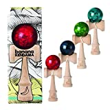Banana Kendama Pro - Precision Japanese Beech Toy (Red Marble)