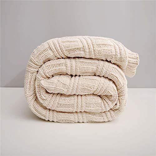 Bureau Siesta Climatiseur Couvre-lit double agneau cachemire Couverture Épaississement Canapé d'hiver super couvertures chaudes Throw Cozy,Beige,150x200cm