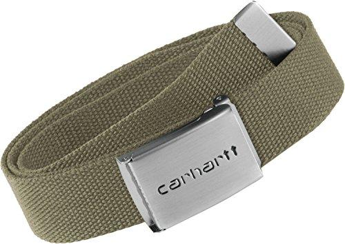 Carhartt WIP Clip Belt ceinture Chrome Leather