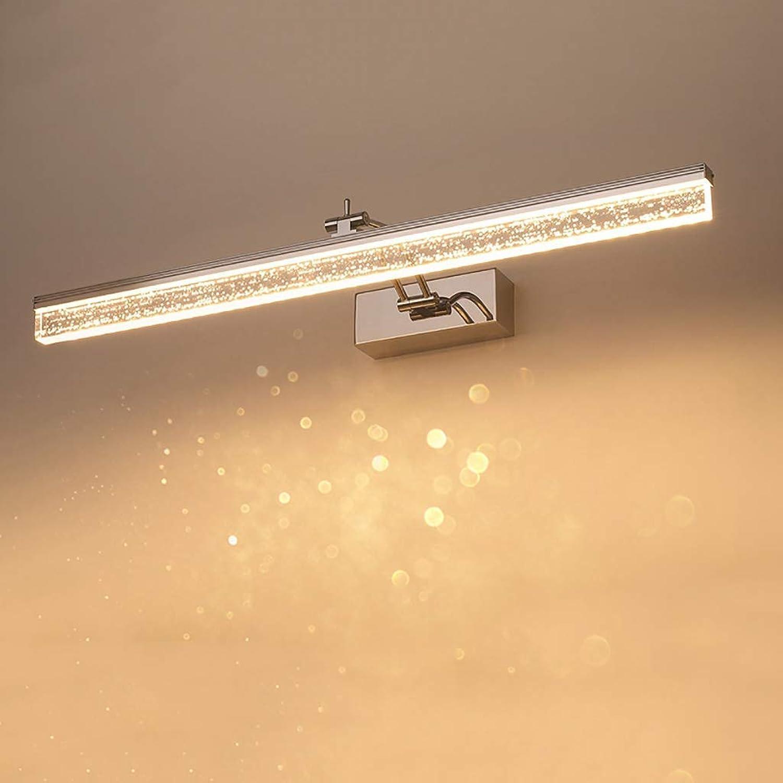 KISlink Spiegelfrontlicht Einfache LED-Spiegelscheinwerfer Badezimmerwandleuchte Schminktisch Spiegelschranklampe wasserdichte Antibeschlagspiegellampe Lnge  50 70   90cm. (Farbe  Positives weies
