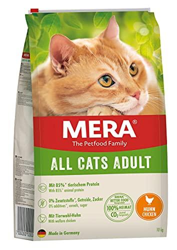 MERA Cats All Cats Adult Huhn - Trockenfutter für ausgewachsene Katzen - getreidefrei & nachhaltig - Katzentrockenfutter mit hohem Fleischanteil, 10 kg