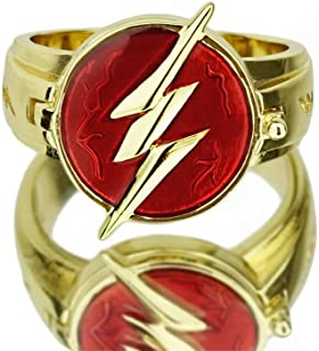 CrazyCatCos The Flas Ring Lightning Logo Prop Alloy Accessories