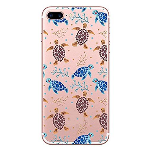 SecondDromi Custodia Molte Simpatiche Tartarughe Blu Marroni modellano Il siliconeper Il iPhone 6S(4,7'), per Il iPhone 6,Marrone