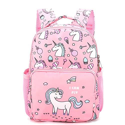 CAR-TOBBY 2019 Mochila Escolar para niños con diseño de Unicornio para niñas de 2 a 5 años de Edad PK