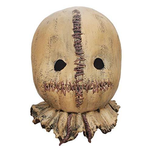 Máscara De Espantapájaros De Halloween, Accesorio De Disfraz De Terror Aterrador, Máscara De Látex De Halloween Para Adultos, Para Decoración De Máscara De Maquillaje De Fiesta Nocturna