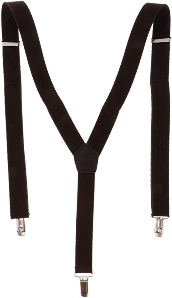 Bonarty Heavy Duty Men Braces Y Back Elastic Adjustable Suspenders Strong Metal Clip
