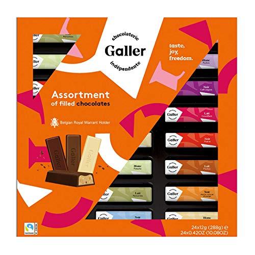 Galler ガレー チョコレート ベルギー王室御用達 ミニバーギフトボックス 24本入 (1箱)