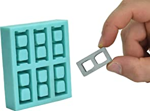Acacia Grove Miniature Cinder Block Mold, Silicone Rubber (1:12 Scale)