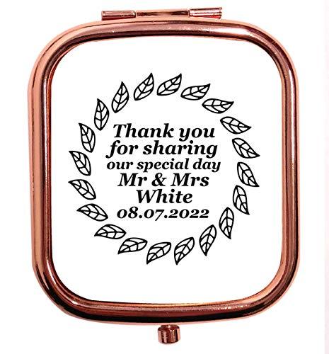 Flox Creative Miroir carré carré carré avec feuille de remerciement