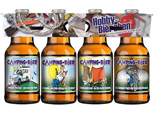 Camping Bier im Hobby Motiv Träger