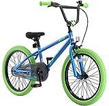 BIKESTAR Bicicleta Infantil para niños y niñas a Partir de 6 años | Bici 20 Pulgadas con Frenos | 20' Edición BMX BLU Verde