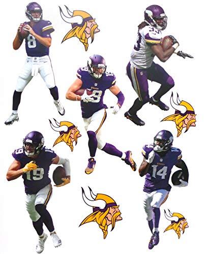 Minnesota Vikings Mini FATHEAD Team Set Official NFL Vinyl Wall Graphics - Each Player 7' INCHES Tall