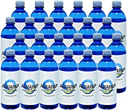 AQUAPAP 16.9 Ounce 24 Pack | 2 Month Supply | Clean Vapor Distilled CPAP Water | 2-3 Nights per Bottle |for use with All Sleep Machines