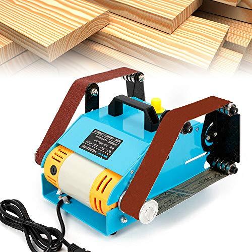 Lijadora de banda, banda de mesa, diseño ajustable, doble eje, banda de lijado, alta resistencia a la temperatura para madera, plástico, etc.