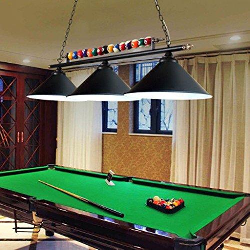 Leuchter Tischleuchte LED personalisierte Eisen Snooker Lampen Café Restaurant Beleuchtung Billard Lichter Haus Dekoration A+ (Farbe : Schwarz)