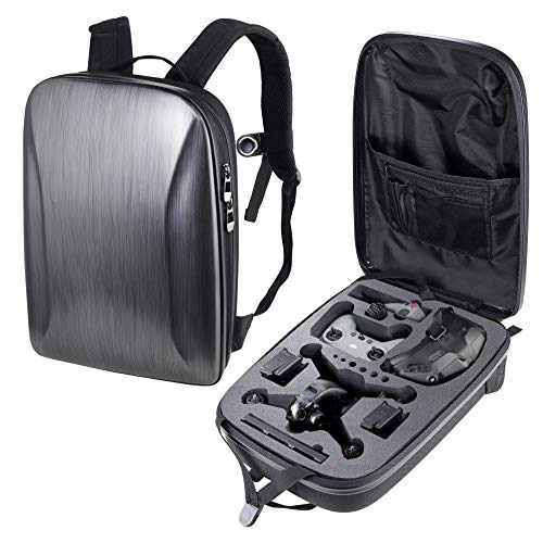 PONYRC Portable Hard Case for DJI FPV Combo Drone, Waterproof Shockproof Backpack Bag for DJI FPV Racing Drone, Goggles V2, Remote Controller 2, Motion Controller, Battery & Accessories