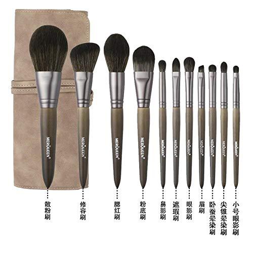 Pinceau De Maquillage Set Foundation Foundation Fard À Paupières Brush Tool Wool, 11 Brushes D