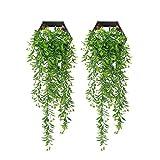YGSAT 2 Pezzi finta pianta rampicante|Edera Artificiale|Edera Artificiale da Appendere Pianta di Foglia Piante Finte Da esterno in Plastica Per la Decorazione del Giardino di Casa|Verde