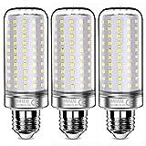 sauglae lampadine led da 26w, 200w lampadine a incandescenza equivalenti, bianco freddo 6000k, 2600lm, e27 lampadine a vite edison, 3 pezzi