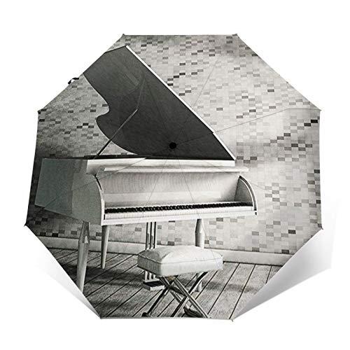 Paraguas Plegable Automático Impermeable Piano de Cola Abst