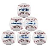 Overmont 6pics de Pelota de Beisbol sofbal Softball de Cuero Sintetico, Color...
