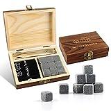 Piedras Whisky,Whisky Rocks Granito,Hielo Piedra,Lujo Set Regalo Piedras Whisky-Alta Tecnología...