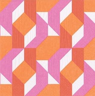 Entertaining with Caspari Colour Theory Cocktail Paper Napkin, Pack of 20, Fuchsia, 12.7 x 12.7 x 3 cm