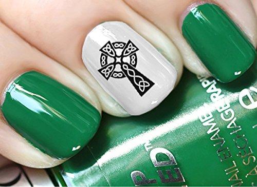 Celtic Irish Cross Set #1 Waterslide Nail Art Decals - Salon Quality! St Patty's Day!