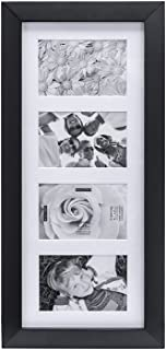 Malden 4x6 4Opening Collage Matted Picture Frame, Displays Four, Black
