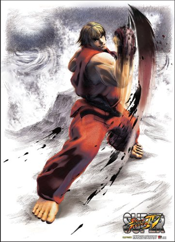 Great Eastern Entertainment Super Street Fighter IV Ken Wall Scroll, 33 by 44-Inch