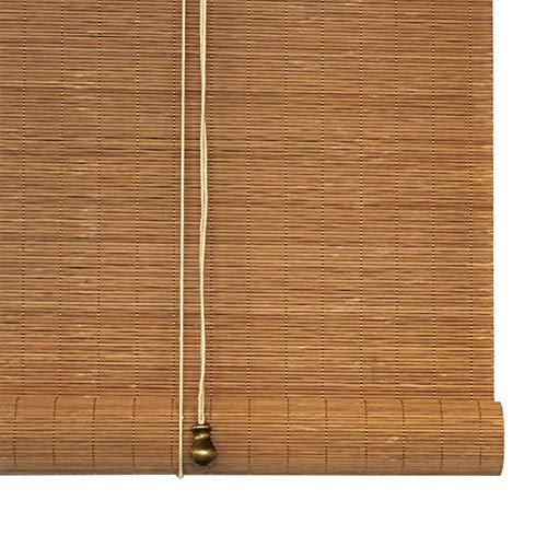 QIANDA Persianas Venecianas Cortina Enrollable Filtrado De Sol Filtrado De Luz Persianas Enrollables De Bambú con Tirón Lateral Decorar La Habitación - Personalizado (Color : A, Size : 40x50cm)