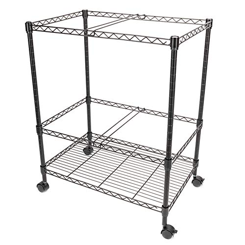 Two Tier Metal Rolling Mobile File Cart for Letter/Legal Size Office Supplies Shelves, Space Saver for Home, Office