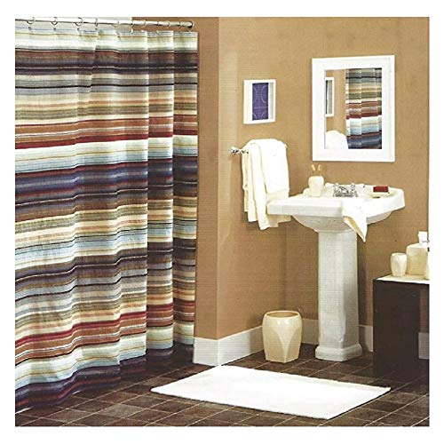 - Retro Chic Shower Curtain in Blue