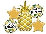 American Balloon Company Pineapple Birthday Balloon Bouquet