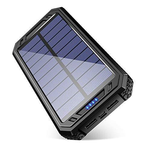 【進化版 18LEDランタン照明】モバイルバッテリー ソーラーチャージャー20000mAh 大容量 コンパス付き 急速...