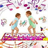 Yolyoo Musical Mat, Piano Keyboard Play Mat Animal Musical Step on Dance Toy Baby Touch Electronic Piano Play Mat for 3-6 Year Old Kids