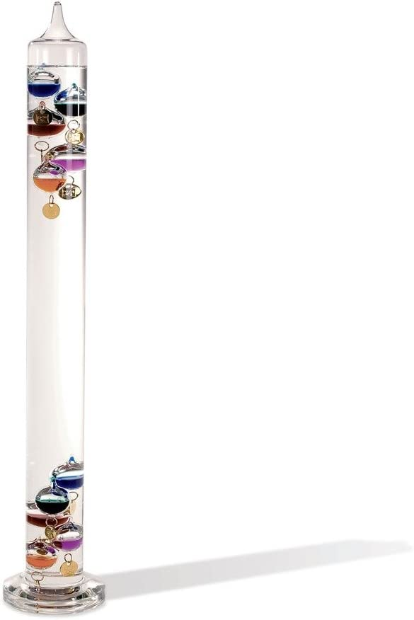 Colorful Tampa Mall Super sale period limited Law of Physics Galileo Thermometer Indoor Glass