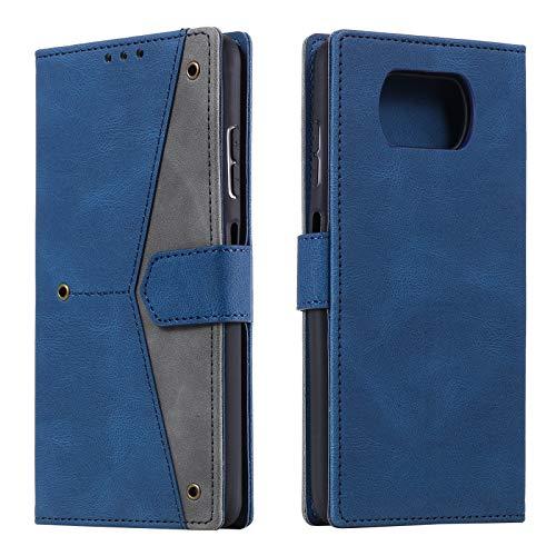HOUSIM Hülle für Xiaomi Poco X3 Pro / X3 NFC Handyhülle mit Kartenfach Klappbar Schutzhülle Leder Tasche Flip Hülle für Xiaomi Poco X3 Pro / X3 NFC - HOHHA180244 Blau