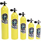 Catalina Pony Bottle Tanks, Yellow with Pro Valve - 19 Cubic Ft