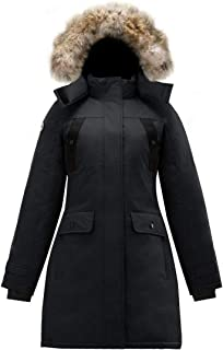 SAGA Collection | Astraea Womens Hooded Goose Down Jacket Parka with Real Coyote Fur