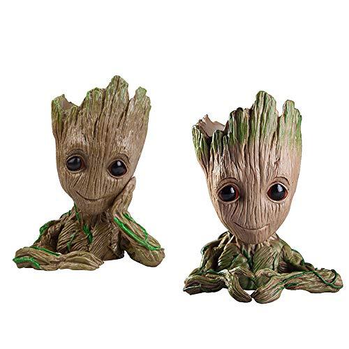 Macetas de jardín Guardianes de la Galaxia Groot Árbol hombre flor maceta o bolígrafos soporte para una pequeña plantas suculentas y el mejor regalo de Navidad para niños