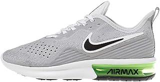 Men's Air Max Sequent 4 Running Shoe White/Dark Grey/Lime Blast Size 9.5 M US