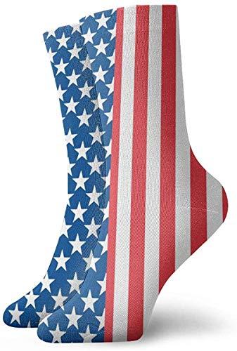 Love girl Calcetines de mujer para hombre 4 de julio Bandera americana Moda Novedad Calcetines deportivos secos Medias 30cm