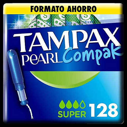 Tampax Compak Pearl Super mit Applikator, Schutz und Diskretion, 128 Stück, 1220 g