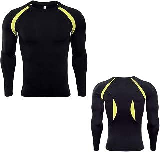 Da Uomo/'S Compression T-Shirt Manica Corta Top Allenamento Fitness Slim Fit T-shirt