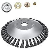 4. SYITCUN 8inch Weeds Trimmer Head Cutter Replacement for String Trimmers Wire Wheel Brush Steel Wire Grinder Brush for Angle Grinder Rust Paint Grass Weed Removal Multifunctional Tools