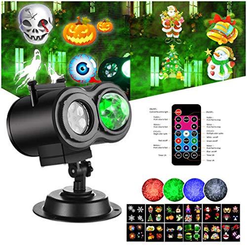 TIM-LI Luces De Navidad LED para Proyectores, Luces Navideñas con 12 Diapositivas 4 Colores De Onda, Interior Impermeable Al Aire Libre para Decoraciones De Navidad/Halloween