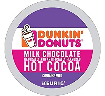 Dunkin  Donuts Milk Chocolate Hot Cocoa Single Serve K-Cups for Keurig Brewers 24 Count